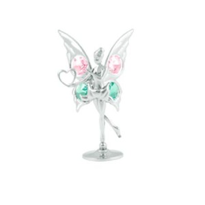 Миниатюра Фея сребърна Swarovski ® Crystal