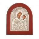 Класическа икона на Св.Богородица - Сребро