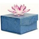 Фън Шуй Лотос (кристал) розов - Голям