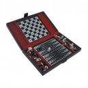 Луксозен Комплект Игри- Шах, Табла и Карти (Vertini Italy)