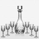 DaVinci Crystal Комплект Бутилка и Чаши за Алкохол Opera
