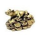 Фън Шуй Бик върху монети (керамика)