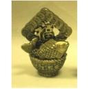Фън Шуй Рибка с йероглифа на Богатството