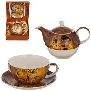 Комплект чаша и чайник Целувката Lancaster