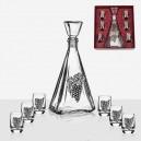 Artina (Austria) Комплект Бутилка и Чаши за Алкохол - Гроздове